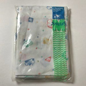 Sprockets Vintage Package 2 Baby Receiving Blanket